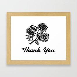 Thank You Roses Framed Art Print