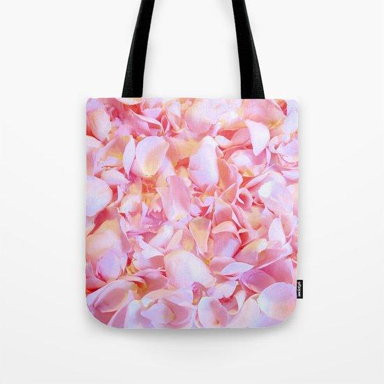 Pink flower petals - Beautiful floral rose roses backround Tote Bag
