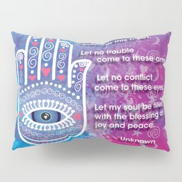 Hamsa Prayer Pillow Sham