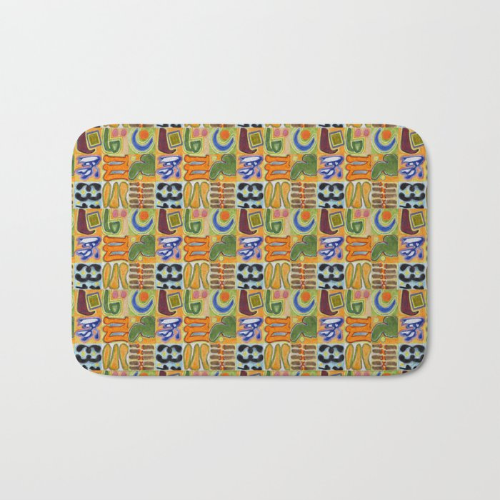 Narrative and Symbolic Signs Pattern Bath Mat