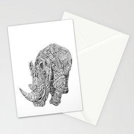 Aztec Rhino Art Stationery Cards