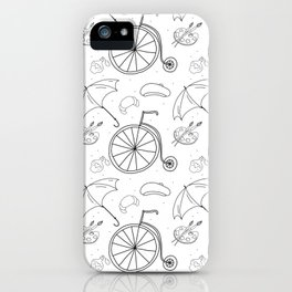 Old Biking Pattern iPhone Case
