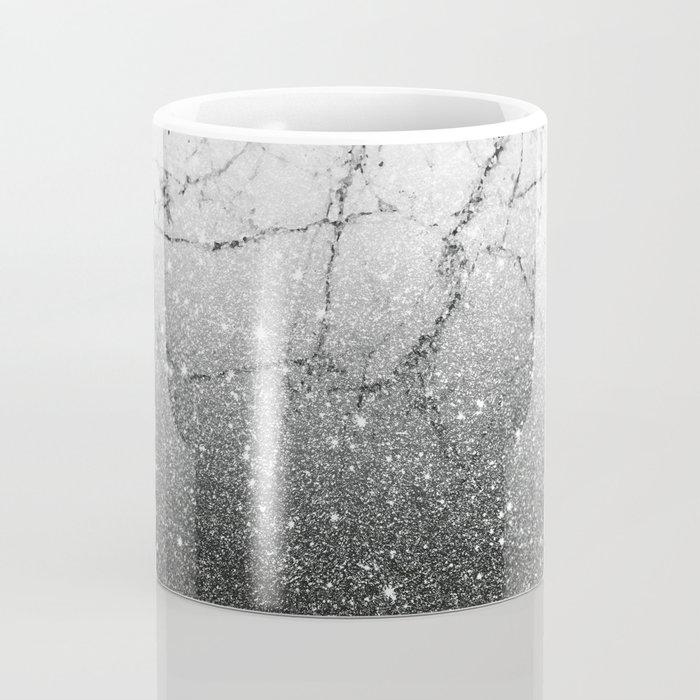 Black Gold glitter and Grey Marble Coffee Mug