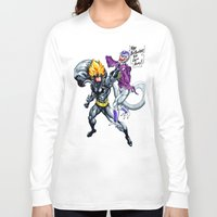 dbz Long Sleeve T-shirts featuring DBZ why so serious by Unic art