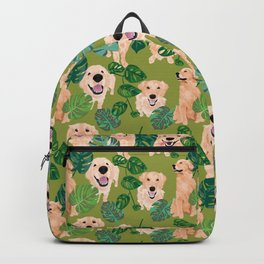 Golden Retrievers Tropical Backpack
