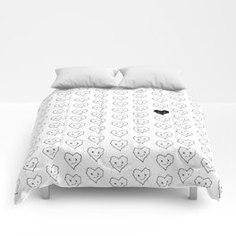black hearts club Comforters