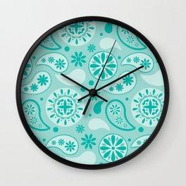 Bohemian Dream in Turquoise Wall Clock