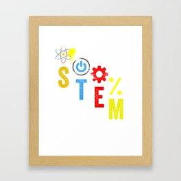 Science Technology Engineering Math STEM Framed Art Print