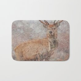 Majestic Stag Watercolor Bath Mat