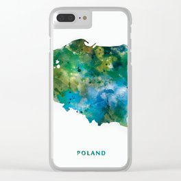 Poland Clear iPhone Case