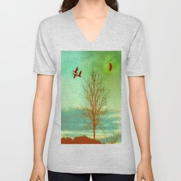 bird flight Unisex V-Neck