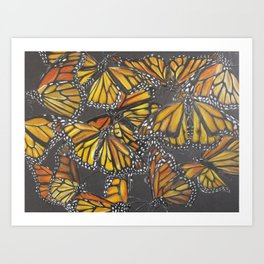 Traveling Monarch Art Print