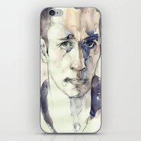 kerouac iPhone & iPod Skins featuring Jack Kerouac by Germania Marquez