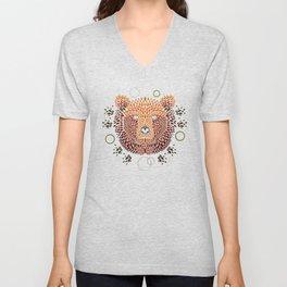 Bear Face Unisex V-Neck