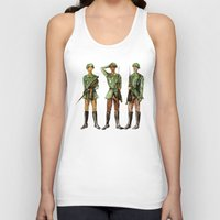 top gun Tank Tops featuring Barely Soldiers by Torrinika