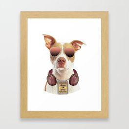 Cool music dog with Access All Areas Framed Art Print