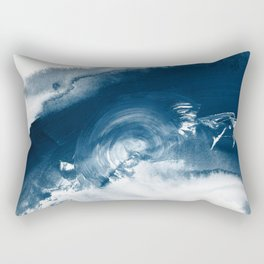 Building the Universe:  A minimal abstract acrylic painting in blue and white by Alyssa Hamilton Rectangular Pillow