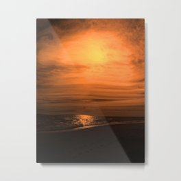 Great Moon Seascape Metal Print