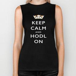 Keep Calm and Hodl On Biker Tank