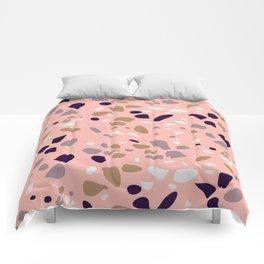 Soft Pink Terrazzo Vector Pattern Comforters