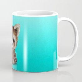 Cute Baby Red Panda Playing With Basketball Coffee Mug