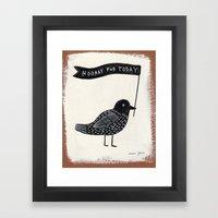 hooray for today - bird Framed Art Print