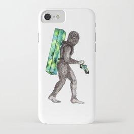 Bouldering Yeti iPhone Case