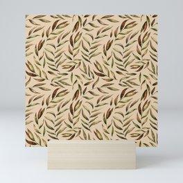 Autumnal Leaves Pattern 4 Mini Art Print