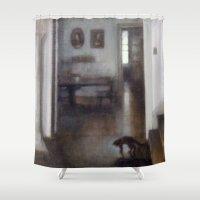 shadow Shower Curtains featuring Shadow by Aurelia Burnham