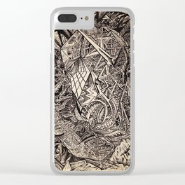 Diffracted (Cavern Dweller) Clear iPhone Case