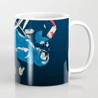 gravity Mugs featuring gravity by wonman kim