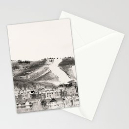 Ski Town Stationery Cards
