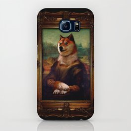 Doge Mona Lisa Fine Art Shibe Meme Painting iPhone Case