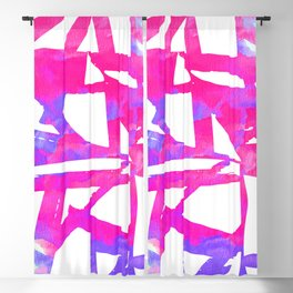 Geometrical abstract pink lavender violet watercolor pattern Blackout Curtain