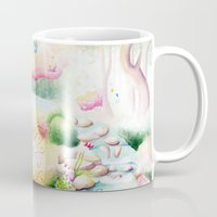 fairy tale Mugs featuring Fairy Tale by Julie Edwards