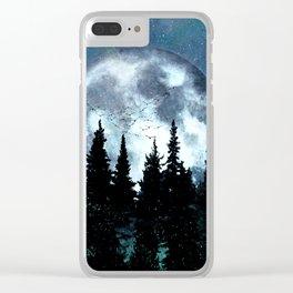Full Moon II Clear iPhone Case