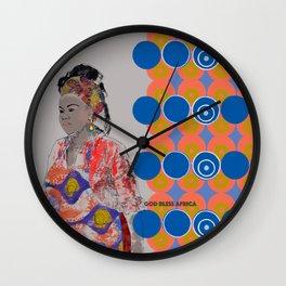 God Bless Africa Wall Clock