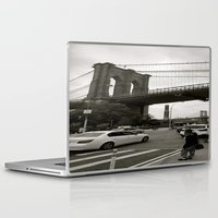 brooklyn bridge Laptop & iPad Skins featuring Brooklyn Bridge by Grace