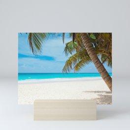 Turquoise Tropical Beach Mini Art Print