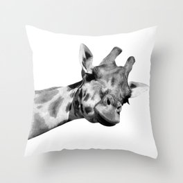 Black and white giraffe Throw Pillow