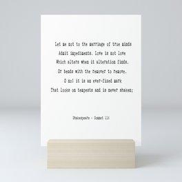 Shakespeare's Sonnet 116 Quote Mini Art Print