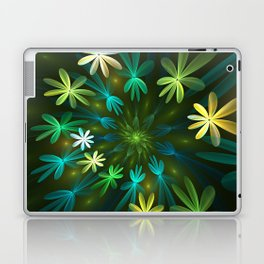 Fantasy Flowers, Fractal Art Laptop & iPad Skin