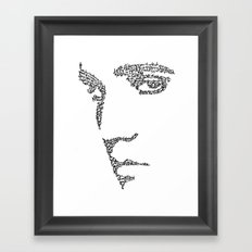 Elvis WordsPortrait  Framed Art Print