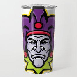 Jester Head Mascot Travel Mug