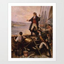 Francis Scott Key - Star Spangled Banner Painting Art Print