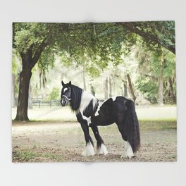 Majestic Horse in Color Throw Blanket
