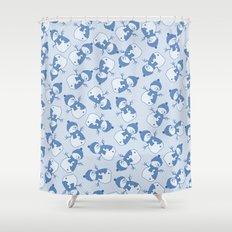 C1.3 snowman pattern Shower Curtain