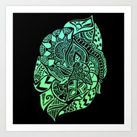 zentangle Art Prints featuring Zentangle by Riaora Creations