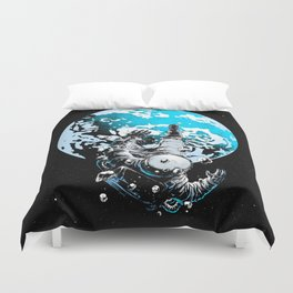 The Lost Astronaut  Duvet Cover