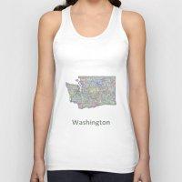 washington Tank Tops featuring Washington map by David Zydd
